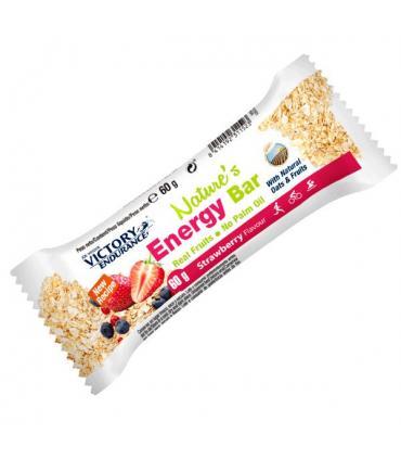 Victory Endurance Nature's Energy Bar Barrita energética con avena y fruta sabor Fresa 60 gramos