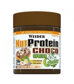 Weider Whey Protein Choco Spread Crema para untar con proteína de suero de leche sabor Chocolate con Avellanas 250g