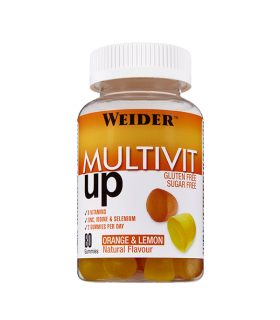 Weider Gominola Multivit UP Vitaminas y minerales, sin azúcar no engorda 80 unidades