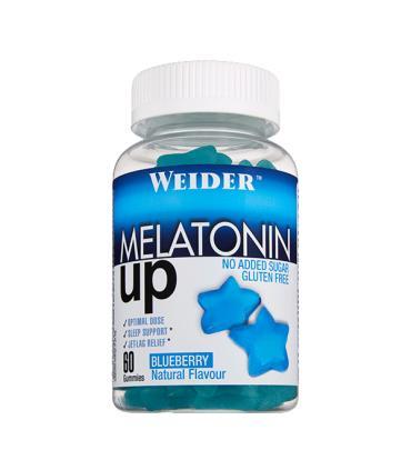 Weider Gominola Melatonina UP para conciliar mejor el sueño, sin azúcar no engorda 60 unidades