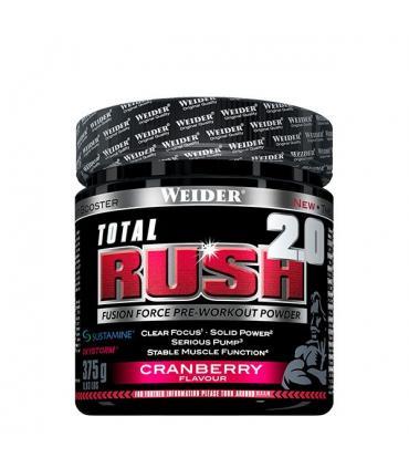 Weider Total Rush 2.0 Cranberry fórmula avanzada para potenciar tu entrenamiento