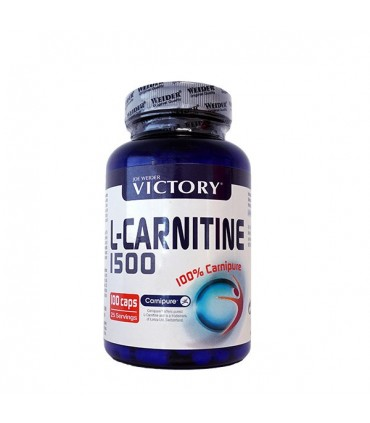 Victory L-Carnitina 1500 Ayuda a eliminar la grasa con Carnipure 100 cápsulas
