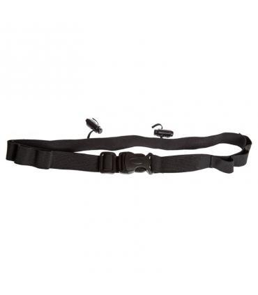42k running Cinturón porta dorsal y porta geles color negro
