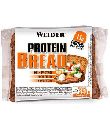 Weider Pan con proteína rico en fibra y bajo en calorías e hidratos