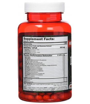 Amix Detonatrol Quema grasas fat burner potente efecto termogénico 90 cápsulas