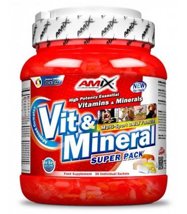 AMIX Vit & Mineral Super Pack Vitaminas y Minerales 30 bolsas