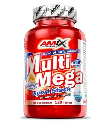 AMIX Multi mega stack Vitaminas y minerales 120 tabletas