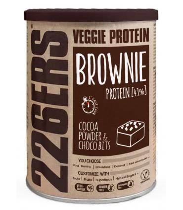 226ERS Veggie Energy Brownie Pastel brownie energético con sabor a chocolate 420gr