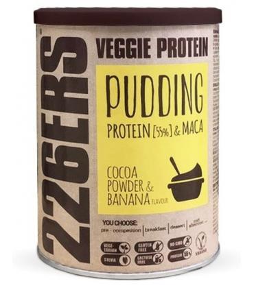 226ERS Veggie Protein Pudding Con proteína de guisante y maca sabor chocolate y plátano 350 gramos