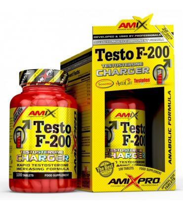 Amix Testo F-200 Para aumentar el nivel de testosterona 100 comprimidos