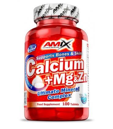 Amix Calcium+Mg+Zn Calcio con Magnesio y Zinc 100 comprimidos