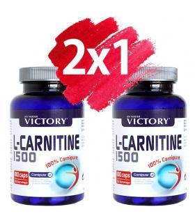 Pack Oferta 2x1 Victory L-Carnitina 1500 Ayuda a eliminar la grasa 2x100 cápsulas