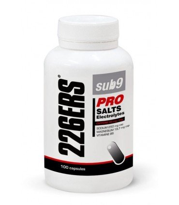 226ERS SUB 9 Pro Salts Electrolytes Vitaminas Minerales y Cafeína 40mg por cápsula bote 100 cápsulas