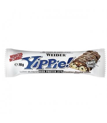 Weider barritas Yippie Bar baja en carbohidratos y extra de proteínas 70gr