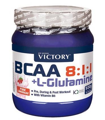 Victory Aminoácidos BCAA 8:1:1 + L-Glutamina para una mejor recuperación y protección 500gr
