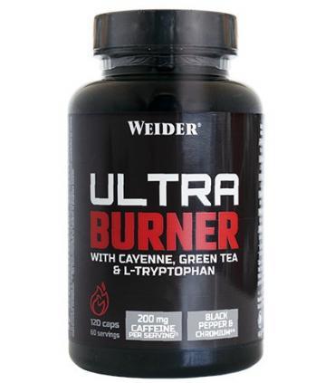 Weider Ultra Burner Quema grasas termogénico con Cafeína y L-Carnitina 120 cápsulas