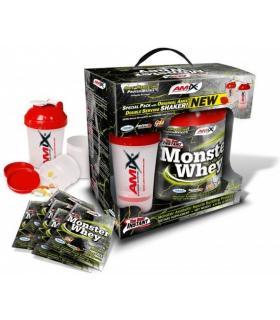 Amix Anabolic Monster Whey Proteína pack con batidora y pastillero de regalo 2Kg