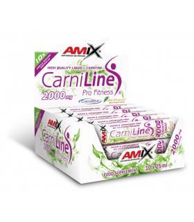 Amix CarniLine 2000 Pro Fitness 2000mg de L-Carnitina por ampolla en 10 ampollas de 25ml