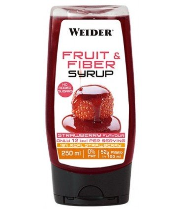 Sirope de fresa sin azúcar Weider Fruit & Fiber Syrup 250ml
