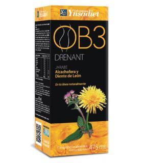 OB3 Drenante natural con alcachofa y diente de león jarabe 475ml