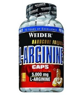 Weider L-Arginine Aminoácido para aumentar masa muscular 100 cápsulas