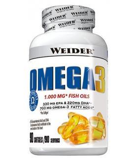 Omega 3 en Cápsulas de Weider con EPA, DHA y Vitamina E en 90 cápsulas