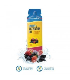 Keepgoing gel energético Energy & Activation con cafeína y L-Arginina sabor Frutas del bosque en 32 gramos