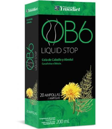 OB6 Liquid stop para eliminar líquidos en 20 ampollas