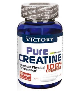 Victory Pure Creatina Creapure para aumentar masa muscular 120 cápsulas