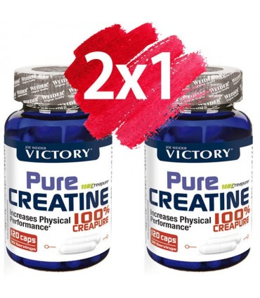 Pack Oferta 2x1 Victory Pure Creatine 100% Creapure Creatina para aumentar masa muscular