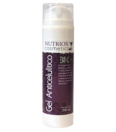 Nutriox Gel Anticelulítico natural con ingredientes lipolíticos 200ml