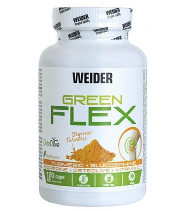 Green Flex Weider Protección articular huesos y cartílagos vegano 120 cápsulas