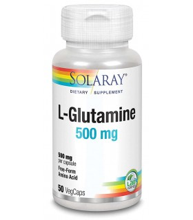 Solaray L-Glutamine aminoácido natural Glutamina en 50 cápsulas