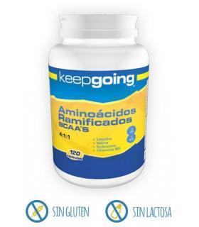 Keepgoing Aminoácidos BCAAs recuperación muscular 120 cápsulas