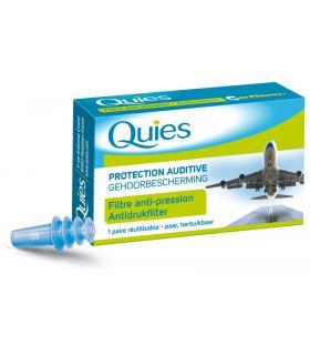 Quies tapones avión con filtro antipresión 1 par reutilizable