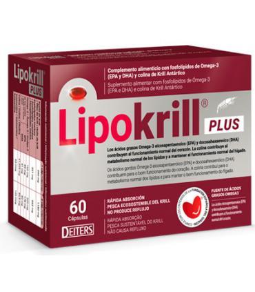 Lipokrill Plus fuente de ácidos grasos Omega 3 en 60 cápsulas