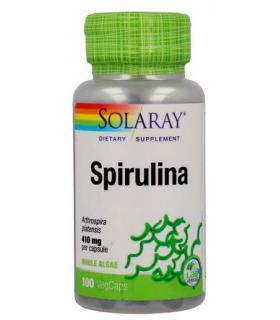 Espirulina en cápsulas Solaray Spirulina 410mg 100 cápsulas