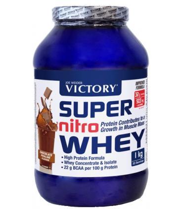Victory Super Nitro Whey proteína 100% aislado y concentrado suero + L-Glutamina 1kg