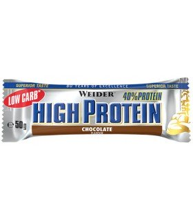 barrita Weider 40% high protein sabor chocolate