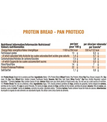 Pan proteico Weider rico en fibra y bajo en calorías e hidratos