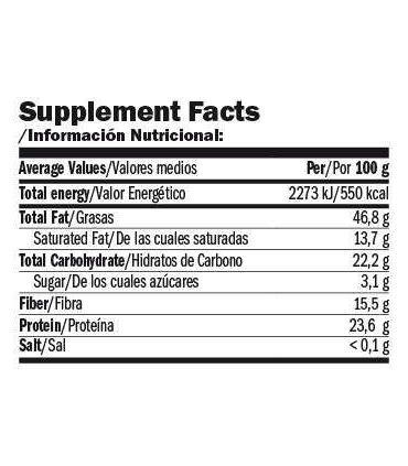 información nutricional nuttamix