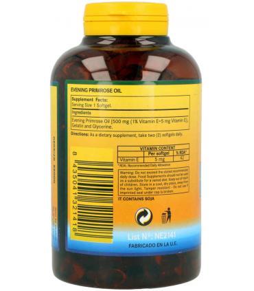 Ingredientes perlas aceite de Onagra