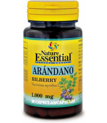 Nature Essential Arándano Bilberry 50 cápsulas 1000mg