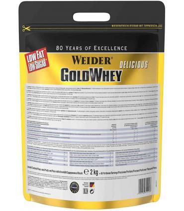 Parte trasera bolsa Werider Gold Whey proteína