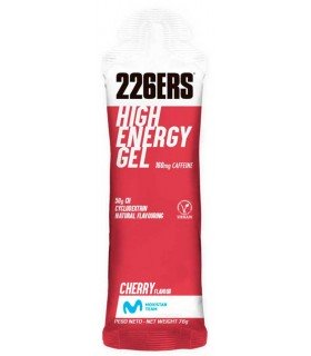226ers High Energy gel con cafeína sabor cereza