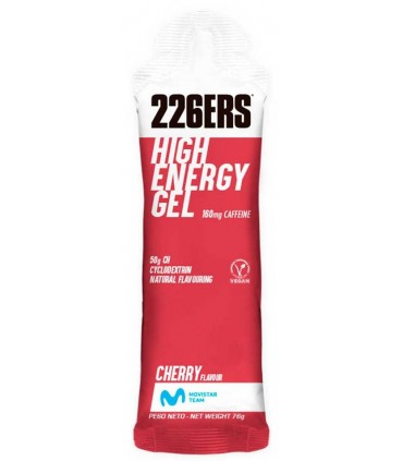 226ers High Energy gel con cafeína sabor cereza