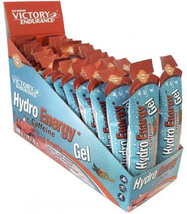 Caja Hydro Energy Gel Caffeine sabor frutos rojos
