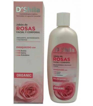 D'Shila Jabón de rosas facial y corporal 250ml