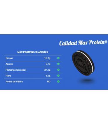 Información nutricional black max protein cookies and cream