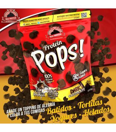 bolsa 500 gramos Max Protein pops chocolate negro